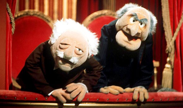 Statler and waldorf jerry for Balcony muppets