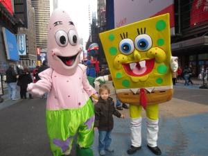 SpongeBob, Patrick Starfish, Times Square