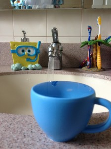 sink, water, tea cup, spongebob soap