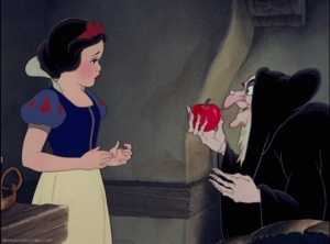 snow white, evil witch, apple