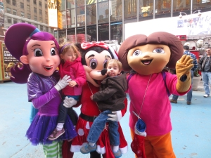 Times Square, Dora, Minnie Mouse