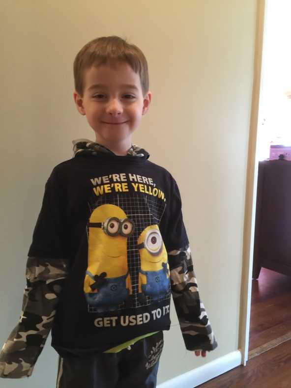 Minions hoodie, we're here, we're yellow, get used to it